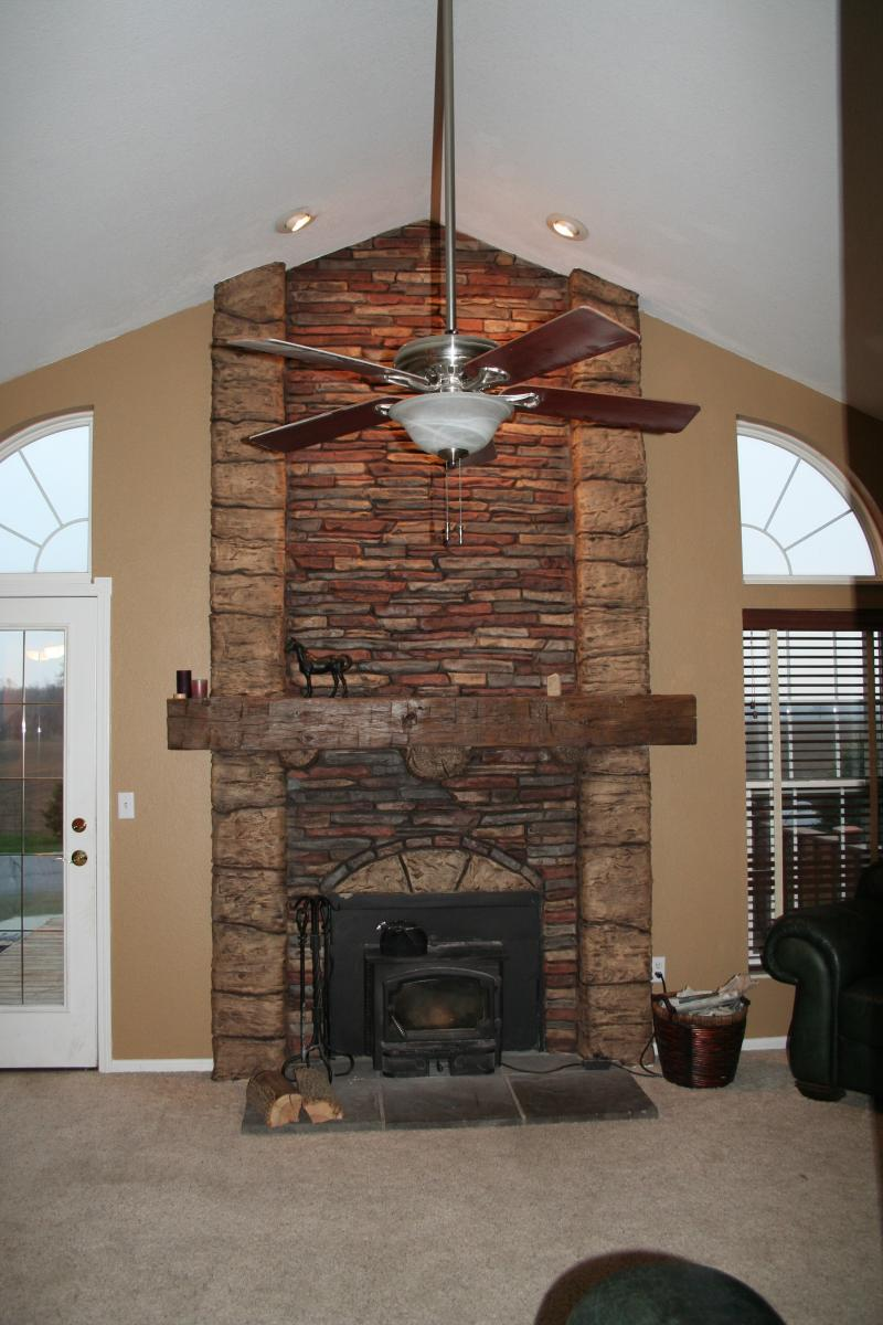 Stamped Concrete Fireplaces : Faziani concrete creations fireplaces